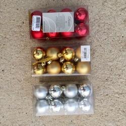 Bola Navidad 40 mm 16 Uds