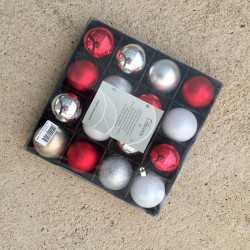 Bola Navidad 60mm Mix 16 Uds