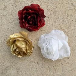 Colgante Navidad Rosa clip...