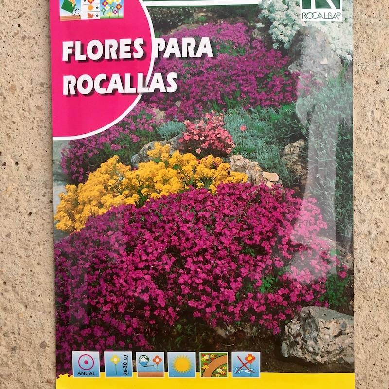 Semillas flores para rocalla mezcla for Plantas para rocallas