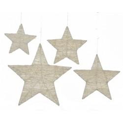 Estrella metal blanca...
