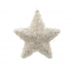 Estrella espuma con brillantes