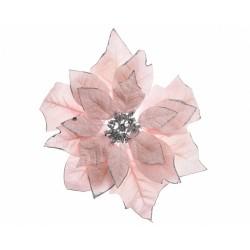 Poinsettia con clip 30cm